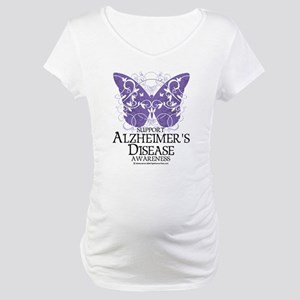 Alzhimers Butterfly 4 Maternity T-Shirt