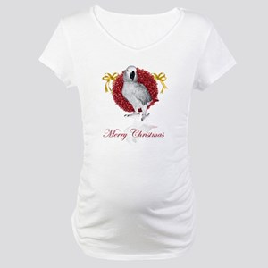 african grey parrot holiday Maternity T-Shirt