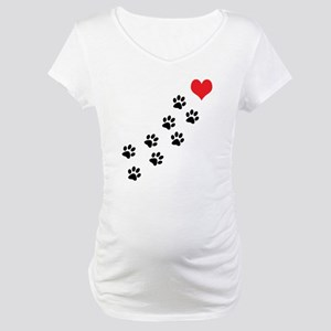 Paw Prints To My Heart Maternity T-Shirt