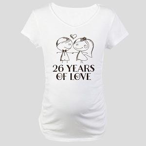 26th Anniversary chalk couple Maternity T-Shirt