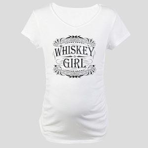 Vintage Whiskey Girl Maternity T-Shirt