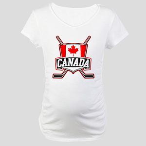 Canadian Hockey Shield Logo Maternity T-Shirt