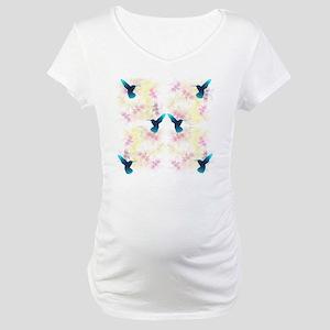 Hummingbird Garden Maternity T-Shirt