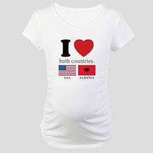 USA-ALBANIA Maternity T-Shirt