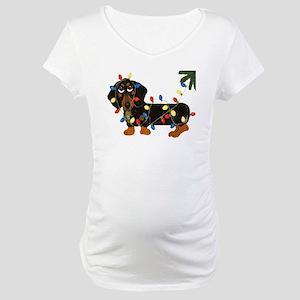 Dachshund (Blk/Tan)... Maternity T-Shirt