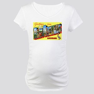New Orleans Louisiana Greetings Maternity T-Shirt