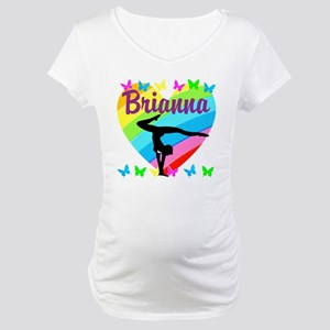 PERSONALIZE GYMNAST Maternity T-Shirt
