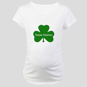 CUSTOM Shamrock with Your Name Maternity T-Shirt