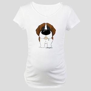 Big Nose St. Bernard Maternity T-Shirt