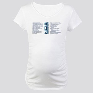 Gibbs Rules NCIS Maternity T-Shirt