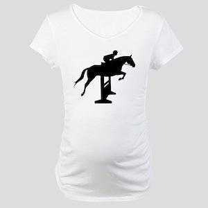 Hunter Jumper Over Fences Maternity T-Shirt