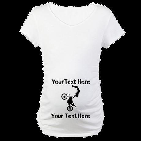 Eat Sleep Jump - Custom Text Maternity T-Shirt
