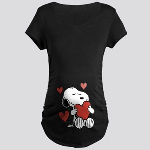 Snoopy on Heart Maternity T-Shirt