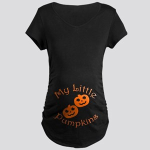 Little Pumpkins Twins Halloween Maternity T-Shirt