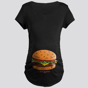 Bob's Burgers Hamburger Maternity Dark T-Shirt