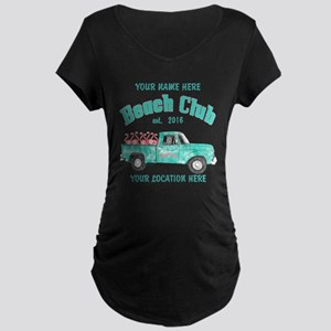 Flamingo Beach Club Maternity T-Shirt