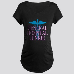 General Hospital Junkie Maternity Dark T-Shirt