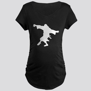 Dancing Dude Maternity Dark T-Shirt
