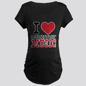 Country Music Maternity Dark T-Shirt