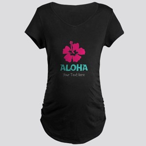 Hawaiian flower Aloha Maternity T-Shirt