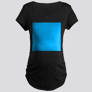 Sky Blue Solid Color Maternity T-Shirt