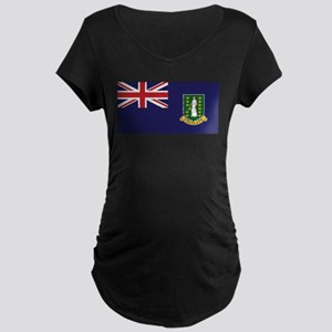BVI Flag Maternity Dark T-Shirt