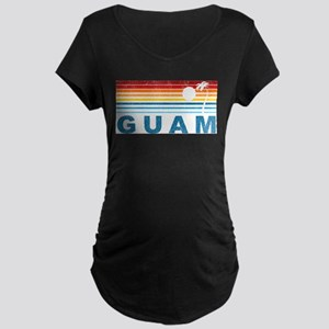 Retro Palm Tree Gua Maternity T-Shirt