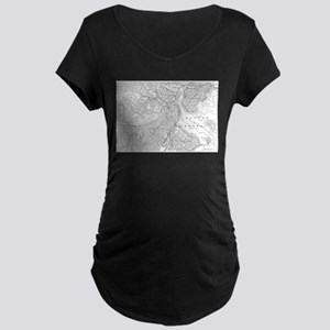 Vintage Map of Boston (1878) Maternity T-Shirt