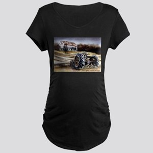 Old Tractor Maternity Dark T-Shirt