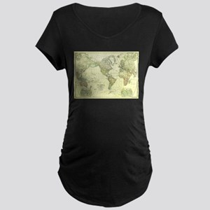 Vintage Map of The World (1922) Maternity T-Shirt