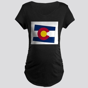 Colorado State outline Map and F Maternity T-Shirt