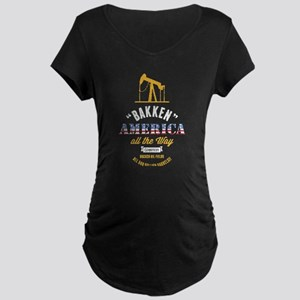 Bakken Oil Dark Maternity T-Shirt