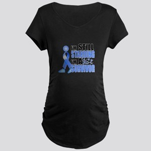 Still Standing I'm A Survivor Maternity Dark T-Shi