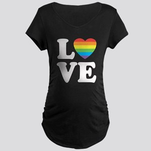Gay Love Maternity Dark T-Shirt