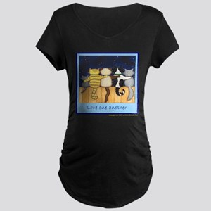 Love One Another - Cats / Kit Maternity Dark T-Shi