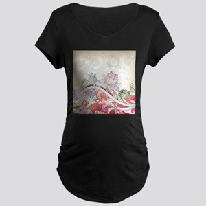 Abstract Floral Maternity T-Shirt