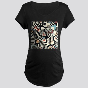 Abstract Pattern Maternity T-Shirt