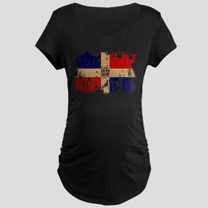 Dominican Republic Flag Maternity Dark T-Shirt