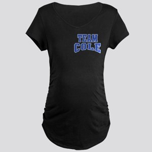 Team Cole Personalized Maternity Dark T-Shirt