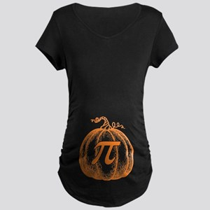 Pumpkin Pi Maternity Dark T-Shirt
