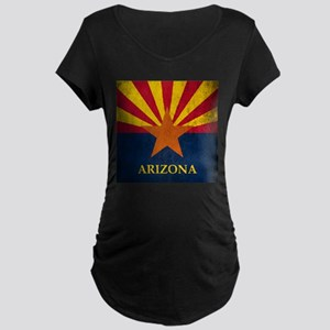 Grunge Arizona Flag Maternity Dark T-Shirt