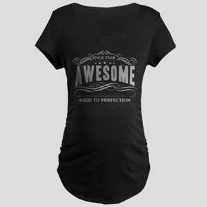 Personalized Birthday Aged Maternity Dark T-Shirt