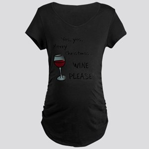 Wine Christmas Puns.Funny Christmas Puns Wine Maternity T Shirts Cafepress