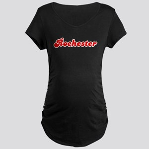 Retro Rochester (Red) Maternity Dark T-Shirt