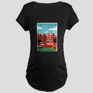 Amsterdam Holland Travel Maternity T-Shirt