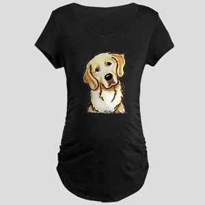 Golden Retriever Portrait Maternity Dark T-Shirt
