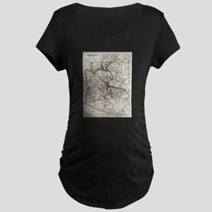Vintage Map of Arizona (1911) Maternity T-Shirt