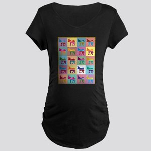 Pop Art Democrat Donkey Logo Maternity T-Shirt