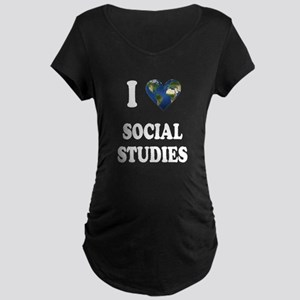 I Love School Shirts Gifts Maternity Dark T-Shirt