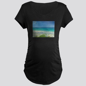 Beach Maternity Dark T-Shirt